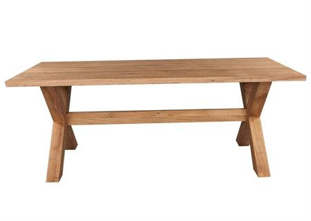 Massive Crossed Leg Dining Table