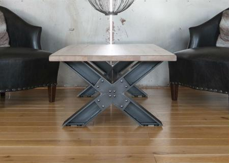 Industrial Metal X Leg Coffee Table