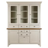 Padstow Large Sideboard With Glazed Top Unit