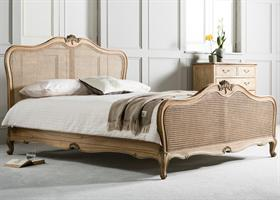 Chic Bed With Cane