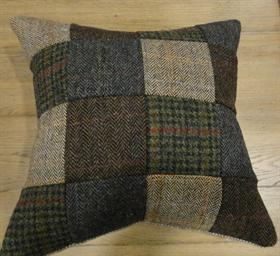 Harris Tweed Patchwork Scatter Cushions