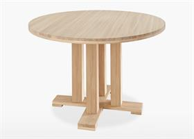 Quercia Round Fixed Dining Table