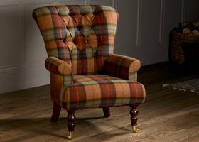 Harrington High Back Chair - Skye Burnt Orange