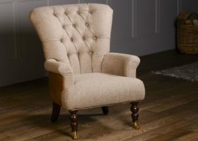 Harrington High Back Chair - Traditional Camel