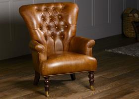 Harrington High Back Chair - Cerato Leather