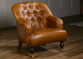 Harrington Low Back Chair - Leather