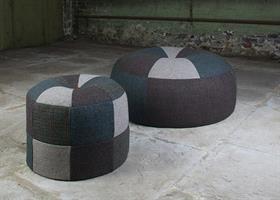 Tetrad Harris Tweed Pumpkin Footstools