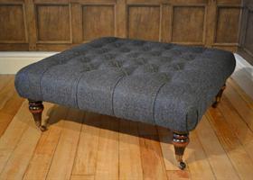 Tetrad Harris Tweed Castlebay Footstool