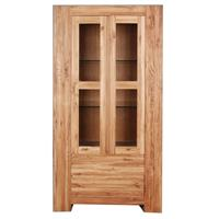 Massive 2 Door Display Cabinet With 2 Drawers