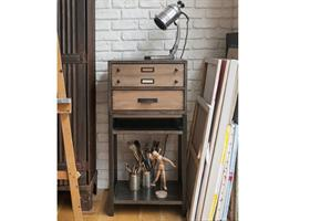 Industrial Tall Lamp Table