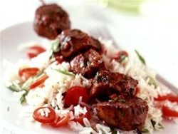 Lamb Kebabs with peppers & onions (4)