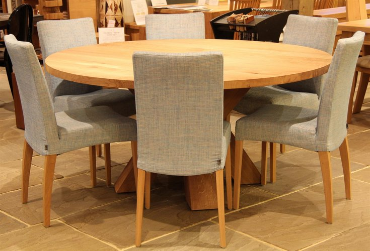 Made To Measure Idaho Solid Oak Round Table From Solidoak