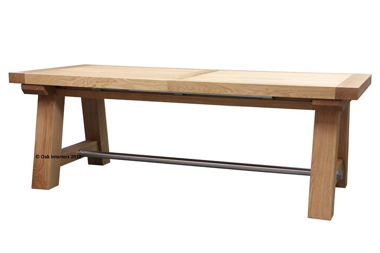 Oslo Large Extending Solid Oak Table Seats 16 From