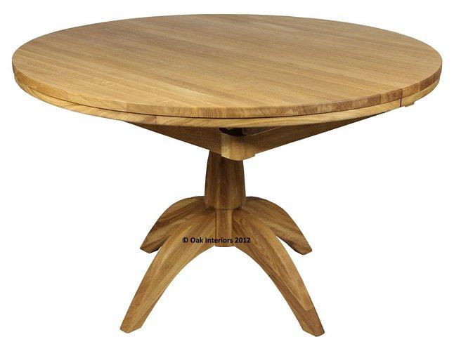 Etonnant Windsor Round Extending Solid Oak Dining Table