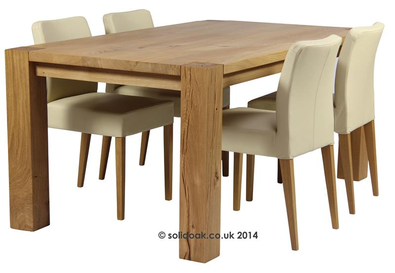Made To Measure Denver Dining Table From Solidoak Dining