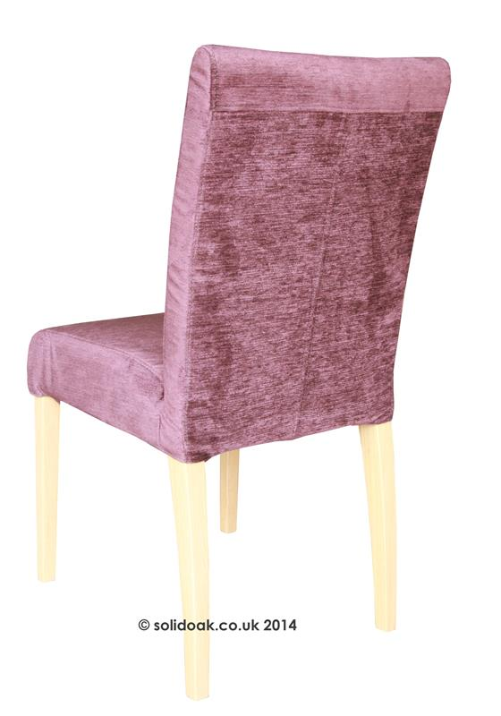 Sienna High Back Loose Cover Fabric Dining Chair From