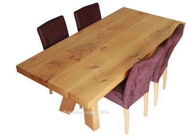 Mighty Mac Solid Oak Dining Table