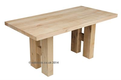Made To Measure Solid Oak Baby Column Table