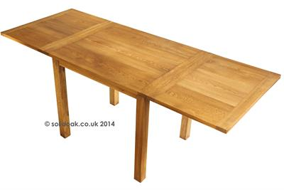 Solid Oak Baby 4 Leg Extending Table