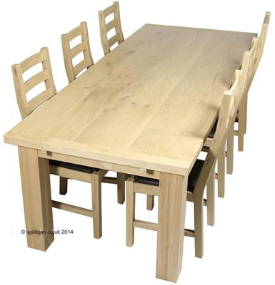 Made to Measure Solid Oak Extending Farmhouse Table