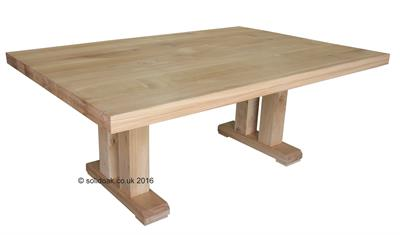 Made to Measure Solid Oak Extending Pedestal Table