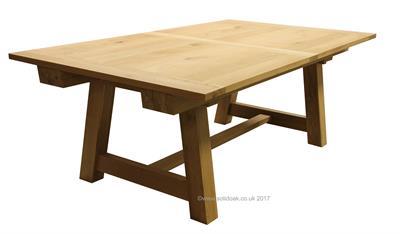 Bespoke London Oak Dining Table Extending