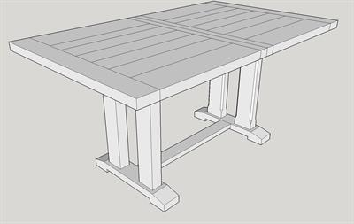 M06 Made to Measure Twin Column Table