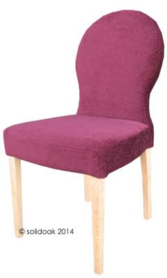 Angela Loose Cover Fabric Dining Chair From Solidoak