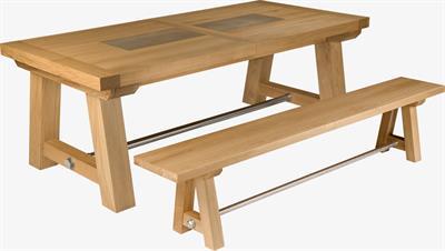 Oslo Large Extending Solid Oak Table - seats 16
