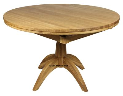 Windsor Round Extending Solid Oak Dining Table