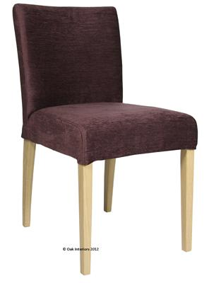 Sienna Low Back Loose Cover Fabric Dining Chair