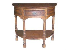 FRUIT WOOD - Half Round Console Table