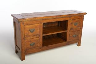 FRUIT WOOD - Low TV Unit with 4 drawers.