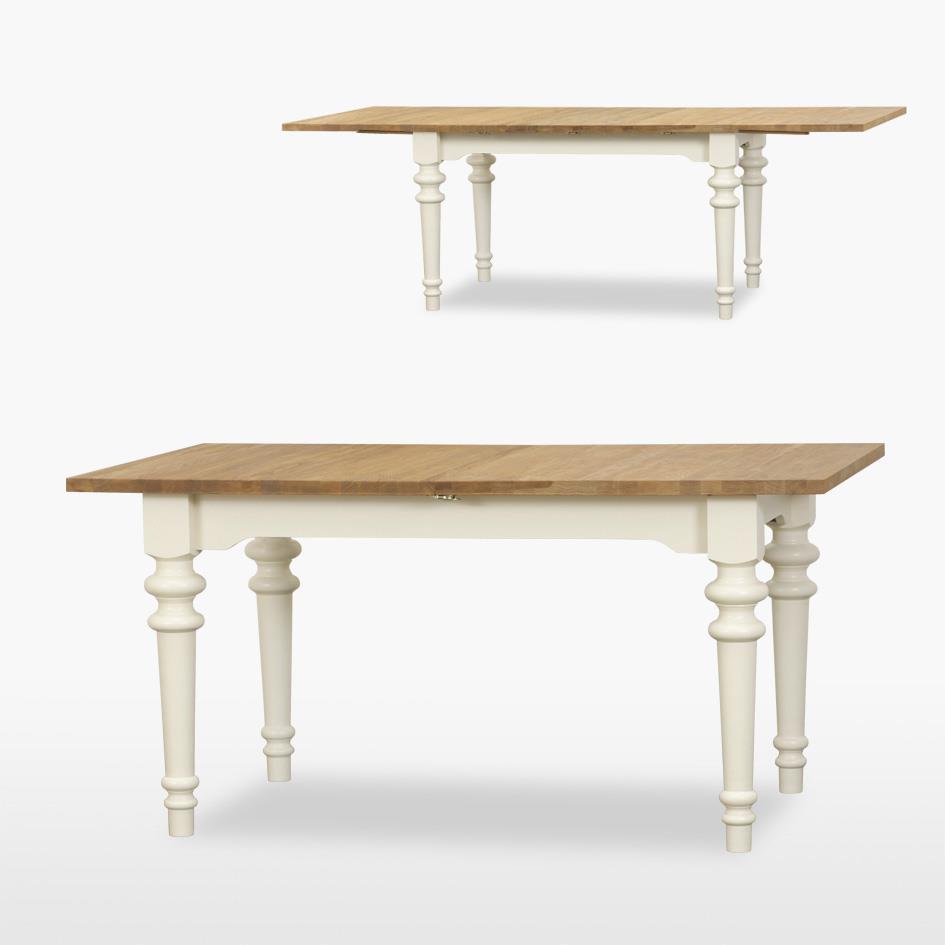 Coelo - Siena Extending Dining Table Turned Legs - 2 Leaves