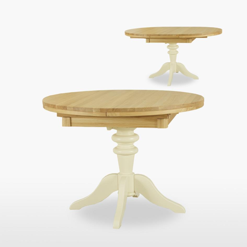 Coelo - Round Extending Dining Table Turned Pedestal