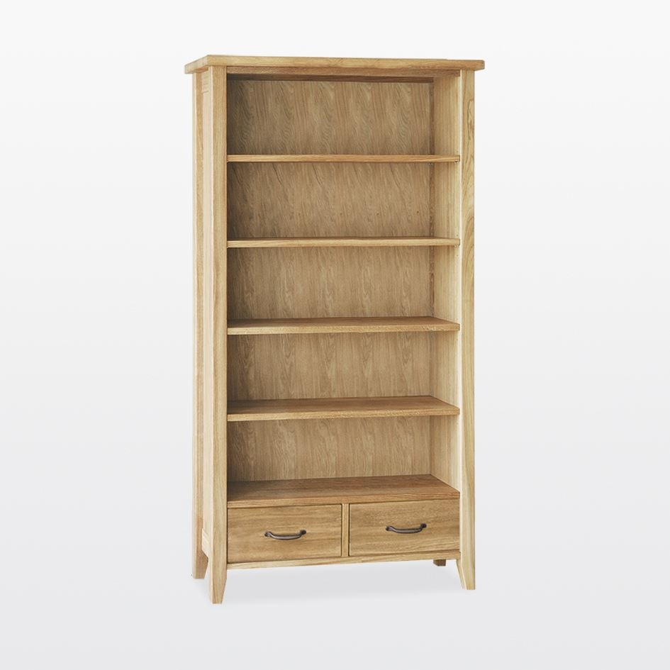 Windsor - Tall bookcase with 2 drawers -WIN5