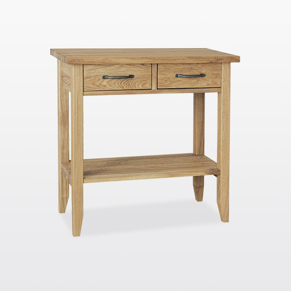 Windsor - Small Console Table with shelf and 2 drawers - WIN58S
