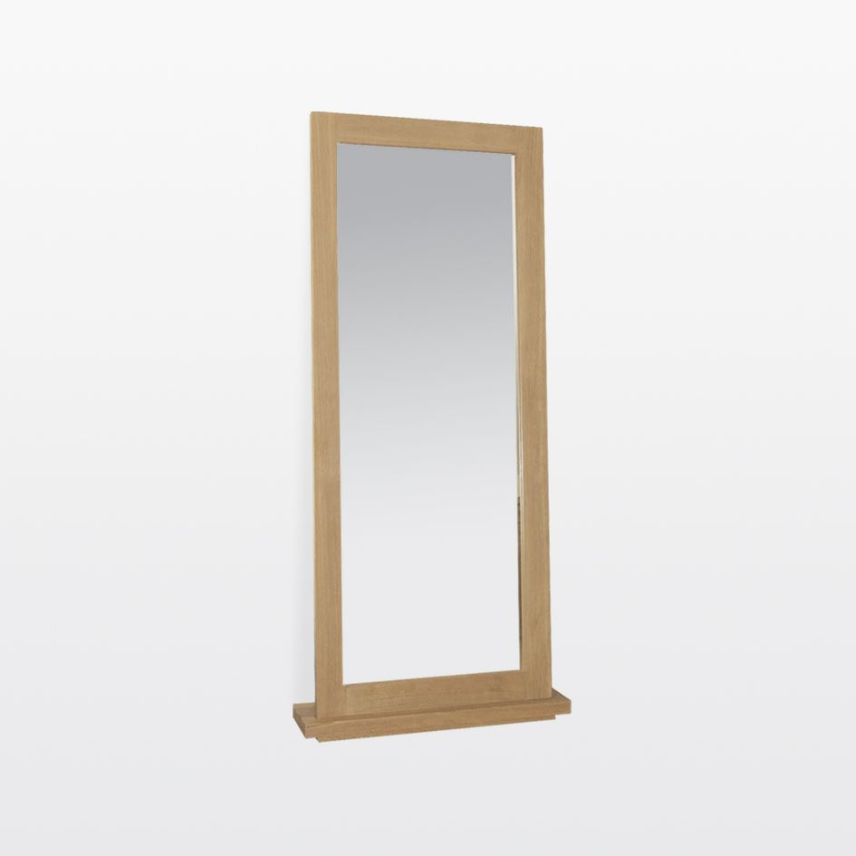 Windsor - Oak Dressing Mirror and Stand WIN118