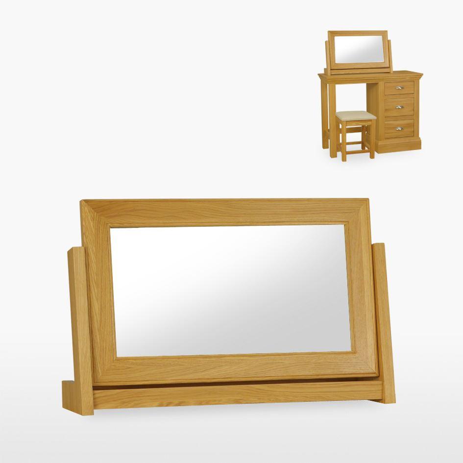 Reims - Large Oak Swing Mirror - REM826