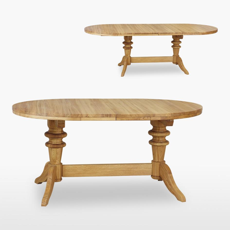 Reims - Double Pedestal Extending Table - REM125