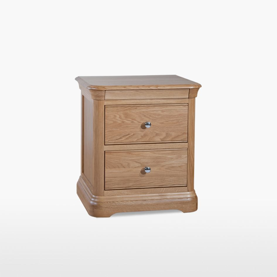 LAMONT - Large Oak 2 Drawer Bedside - LAM801