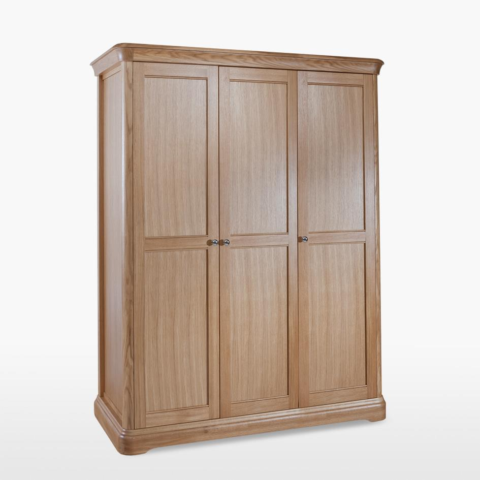 LAMONT - Oak Triple Door Wardrobe - LAM813