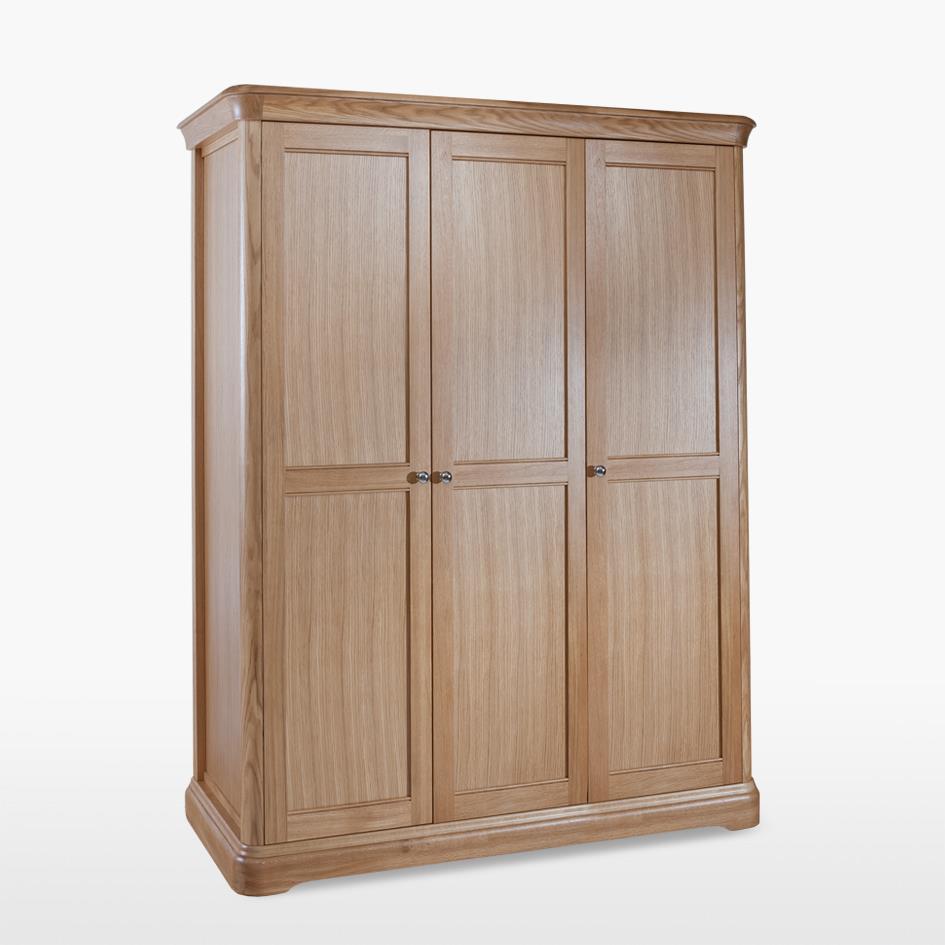 LAMONT - Oak Triple Door Wardrobe - LAM813