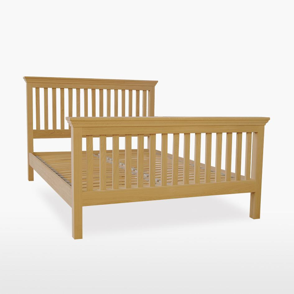 Reims - Oak Slat Bed with High Foot End by TCH