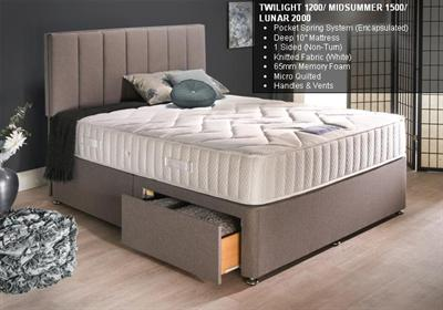 TWILIGHT 1200 Spring Mattress / Divan Set