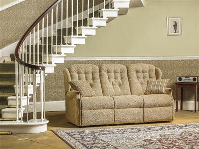 LYNTON Knuckle - 3 Seater Fixed Settee