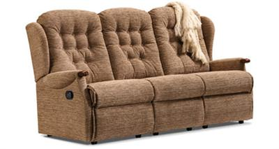 LYNTON Knuckle - 3 Seater Reclining Settee