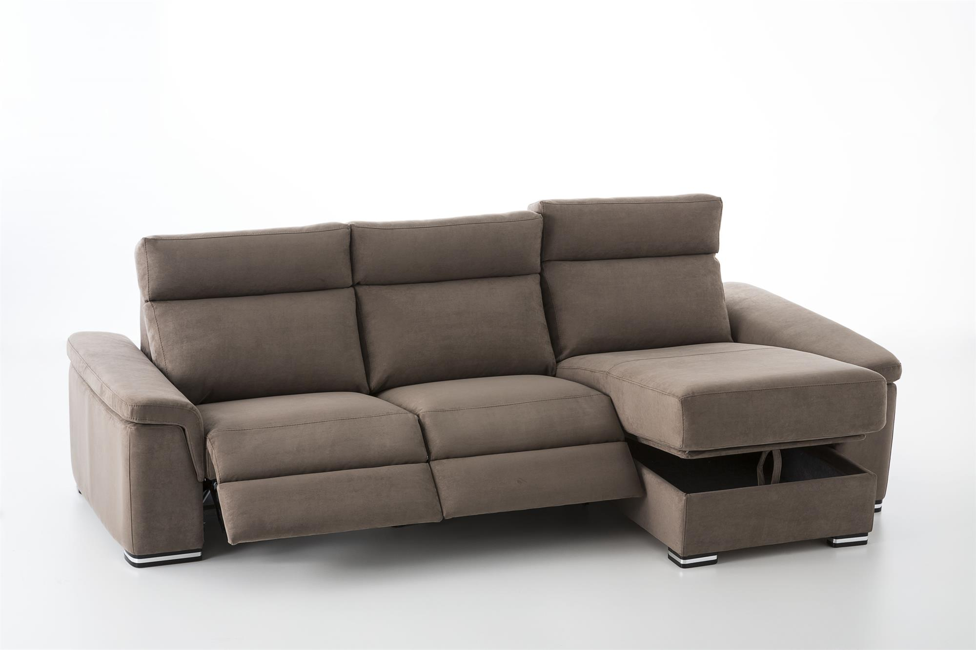 Gala Leather 3 Seater Sofa with Ottoman.