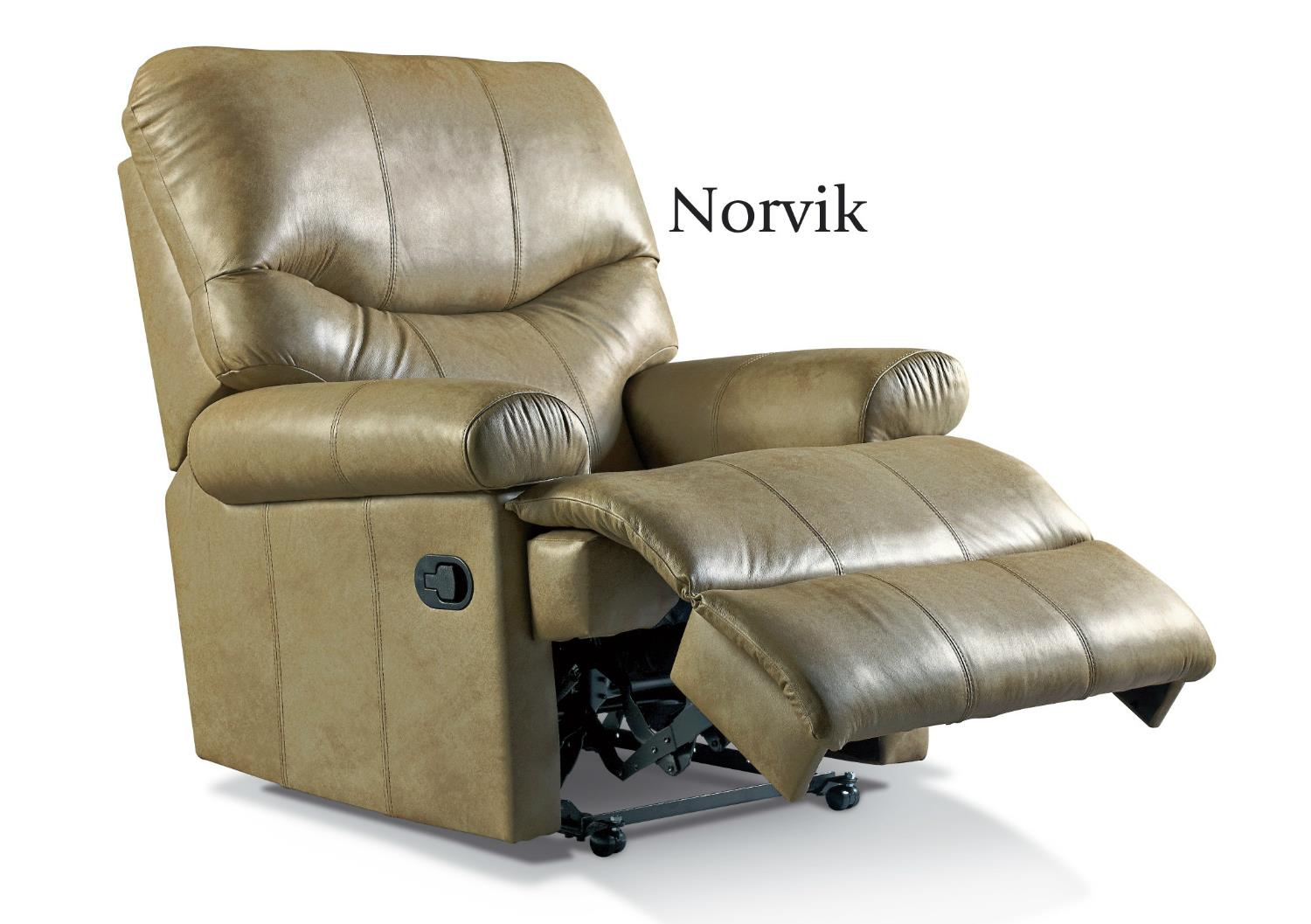 NORVIK Leather Reclining Chair by Sherborne