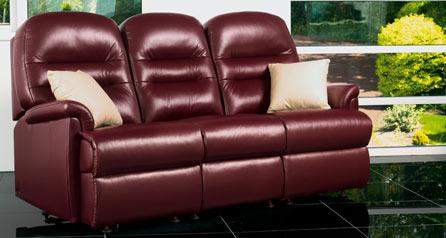KESWICK - 3 Seater Fixed Leather Settee by Sherborne